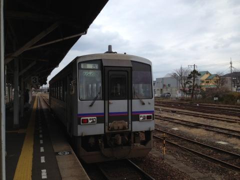 長門市→奈古行きワンマン電車