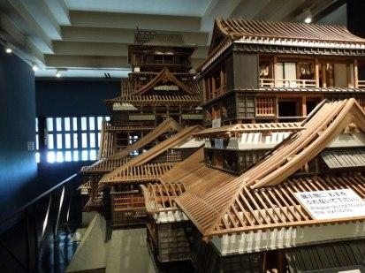 熊本城の1/10の模型
