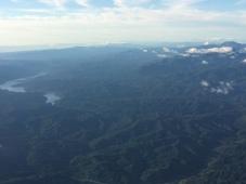 夕張岳とシューパロ湖